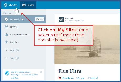 wordpress.com - My Sites